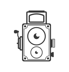 Videocamera technology retro vintage icon vector