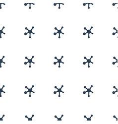 Virus icon pattern seamless white background vector