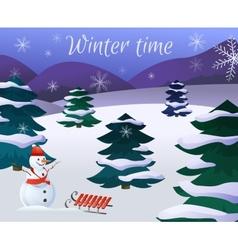 Winter Landscape Poster vector