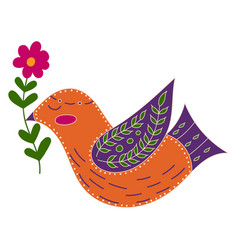 with birds and flowers in a vector image