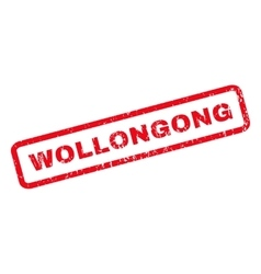 Wollongong Rubber Stamp vector