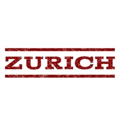 Zurich Watermark Stamp vector