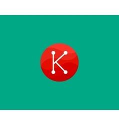 Abstract letter K logo design template Dot line vector image