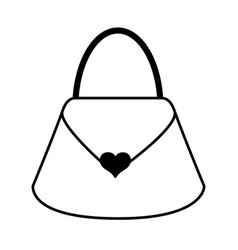 Black icon purse cartoon vector