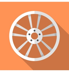 Colorful car disk wheel rim icon in modern flat vector image vector image