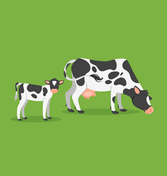 cow with calf vector image