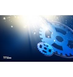 Gear-wheels over lights vector