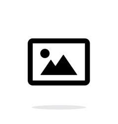 Landscape photo icon on white background vector image
