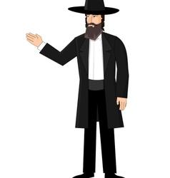 Orthodox jewish man vector