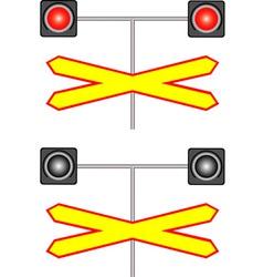 Railway crossing traffic light vector image vector image