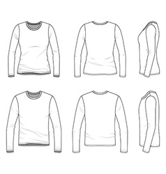 Simple outline drawing of a mens and womens blank vector image vector image
