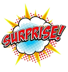 Surprise Comic style phrase vector image