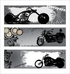 grunge motorbike banners vector image vector image