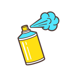 icon of spray paint can vector image