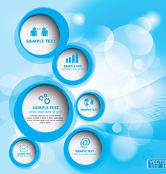 Modern circle can be used for workflow layout vector image