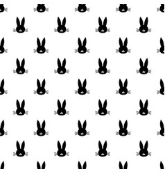 pattern with black rabbit head vector image vector image