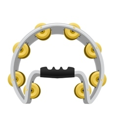 realistic Tambourine isolated on white background vector image