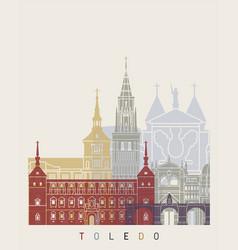 toledo v2 skyline poster vector image vector image