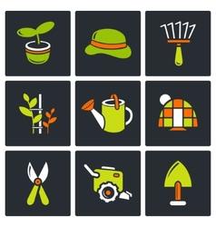 Garden icon set vector image vector image