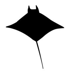 Icon manta fish vector