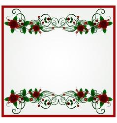Rose floral frame background vector image