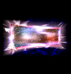 screen led brilliant beam big board vector image vector image