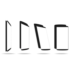 Set black smartphones different angle views vector image vector image
