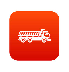 truck icon digital red vector image