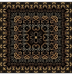 Bandanna with gold pattern vector image vector image