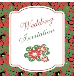 Beautiful floral invitation card vector image vector image