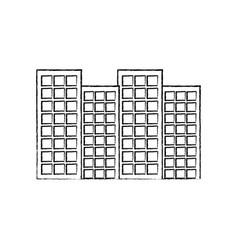 buildings city skyline icon image vector image