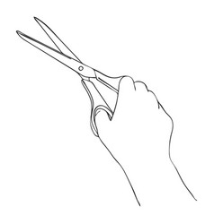 cooking hand with scissors vector image