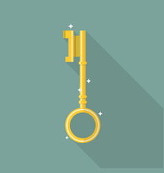 Key in flat style icon vector