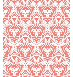 Vintage art deco pattern in coral red vector image vector image