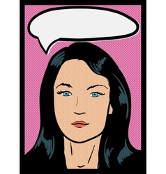 Vintage Comic Girl vector image