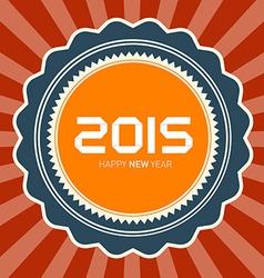 2015 Happy New Year Retro vector image