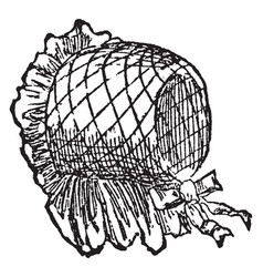 A covering for the head vintage engraving vector