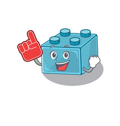 A picture lego brick toys mascot cartoon vector