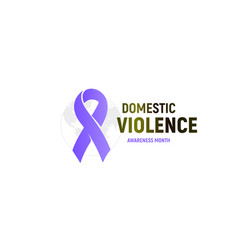 Abused victims support logo domestic violence vector