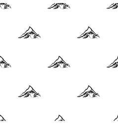Alps icon in black style isolated on white vector