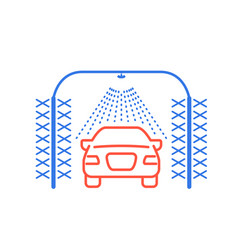 automatic car wash icon car sprinkler and vector image
