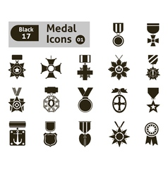 Award and medal icons vector