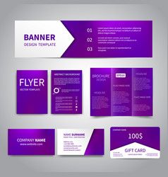 Banner flyers brochure business cards vector