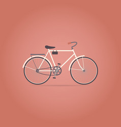 bicycle flat icon retro style vector image