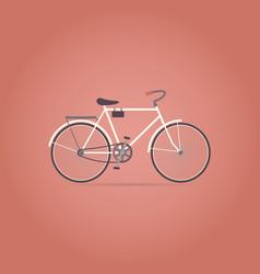 bicycle flat icon retro style vector image