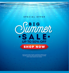 Big summer sale design with holiday typography vector
