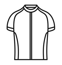Bike shirt icon outline style vector