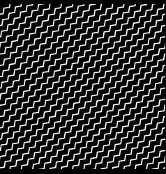 Black diagonal lines seamless pattern wavy zigzag vector