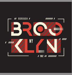 broolklyn t-shirt and apparel geometric vector image