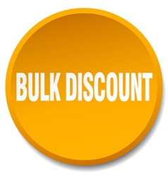Bulk discount orange round flat isolated push vector
